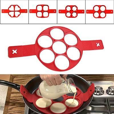 Non Stick Pancake Pan Flipper Breakfast Easy Maker Egg Omelette Flipjack Tools