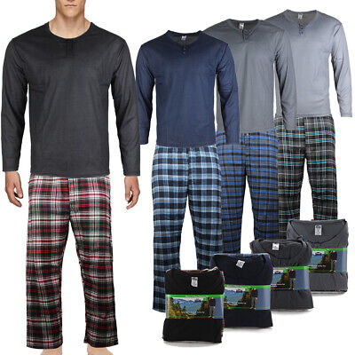 Rugged Frontier 2 Piece Lounge Men's Plaid Flannel  Pajama Set Clothing, Shoes & Accessories