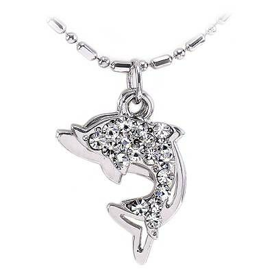 Double Dolphin Sea Animal Charm Anklet Ankle Bracelet Chain Jewelry AK25clr