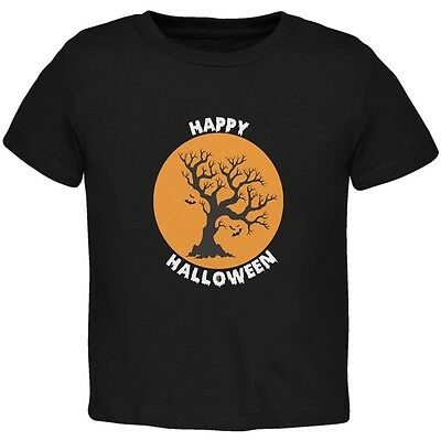 Halloween Tree Silhouette (Happy Halloween Tree Silhouette Black Toddler)