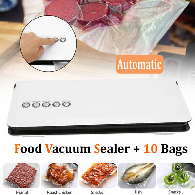 Automatic Vacuum Sealer Machine Food Storag Home Sealing System + 10 Bag Seal Automatic Vacuum