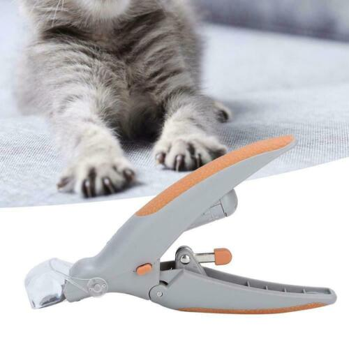 Pet Cat Dog Illuminated Trimmer with LED Light Nail Clippers 5X Magnification