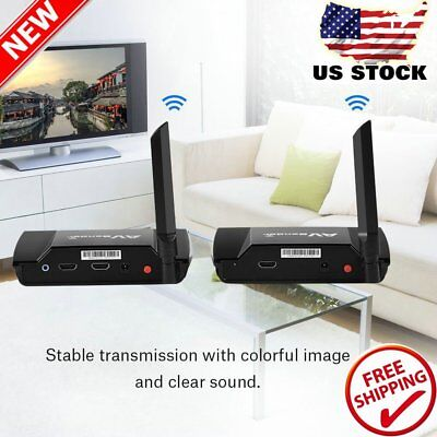 - HDMI TV Audio Video Sender Transmitter Receiver Wireless Sharing Device 5.8G HM2