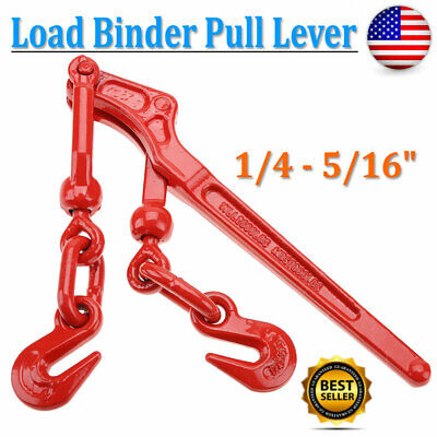 14 - 516 Load Binder Pull Lever Chain Hook Tie Down Rigging Equipment Us