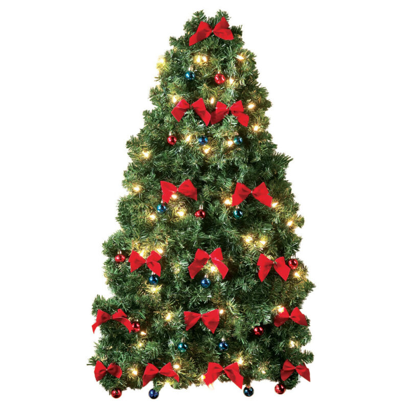 Collections Etc Lighted Christmas Wall Tree
