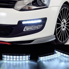 2x 8 SUPER BRIGHT FLUX LED DRL SMD DAYTIME RUNNING LIGHTs XENON WHITE HIGH POWER