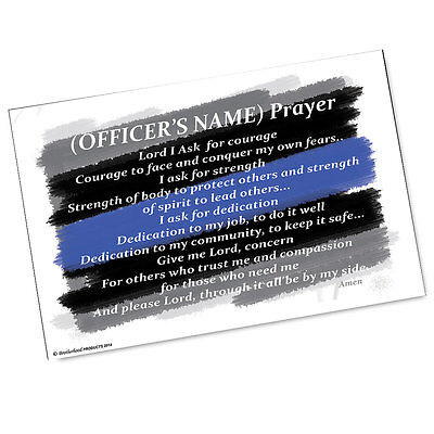 Personalized Law Enforcement Police Officer's Prayer Two 11x17 Posters