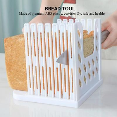 Bread Toast Sandwich Slicer Cutter Mold Maker Kitchen Guide Slicing Tool White Slicing-tool