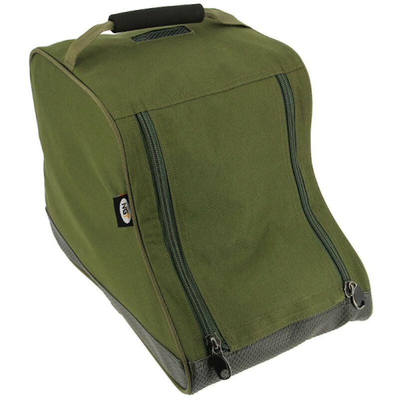 NGT Green Padded Deluxe Twin Zip Short Boot Bag