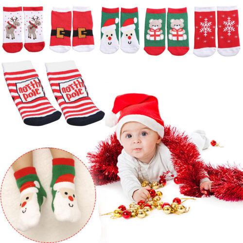 Kids Christmas Warm Slipper Socks Childrens Novelty Xmas Stocking Filler Gift VN