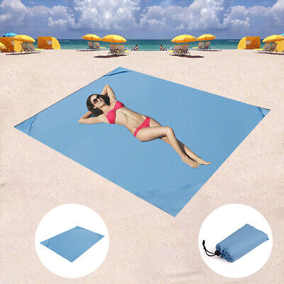 Foldable Sand Free Beach Mat Outdoor Picnic Blanket Rug Sandless Mattress Pad Mg Home & Garden