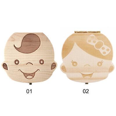 как выглядит Wooden Kids Baby Tooth Boxs Organizer Milk Teeth Wood Storage Box for Boys Girls фото