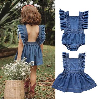 Big/Little Sister Kids Toddler Baby Girls Sister Clothes Jumpsuit Romper Dresses