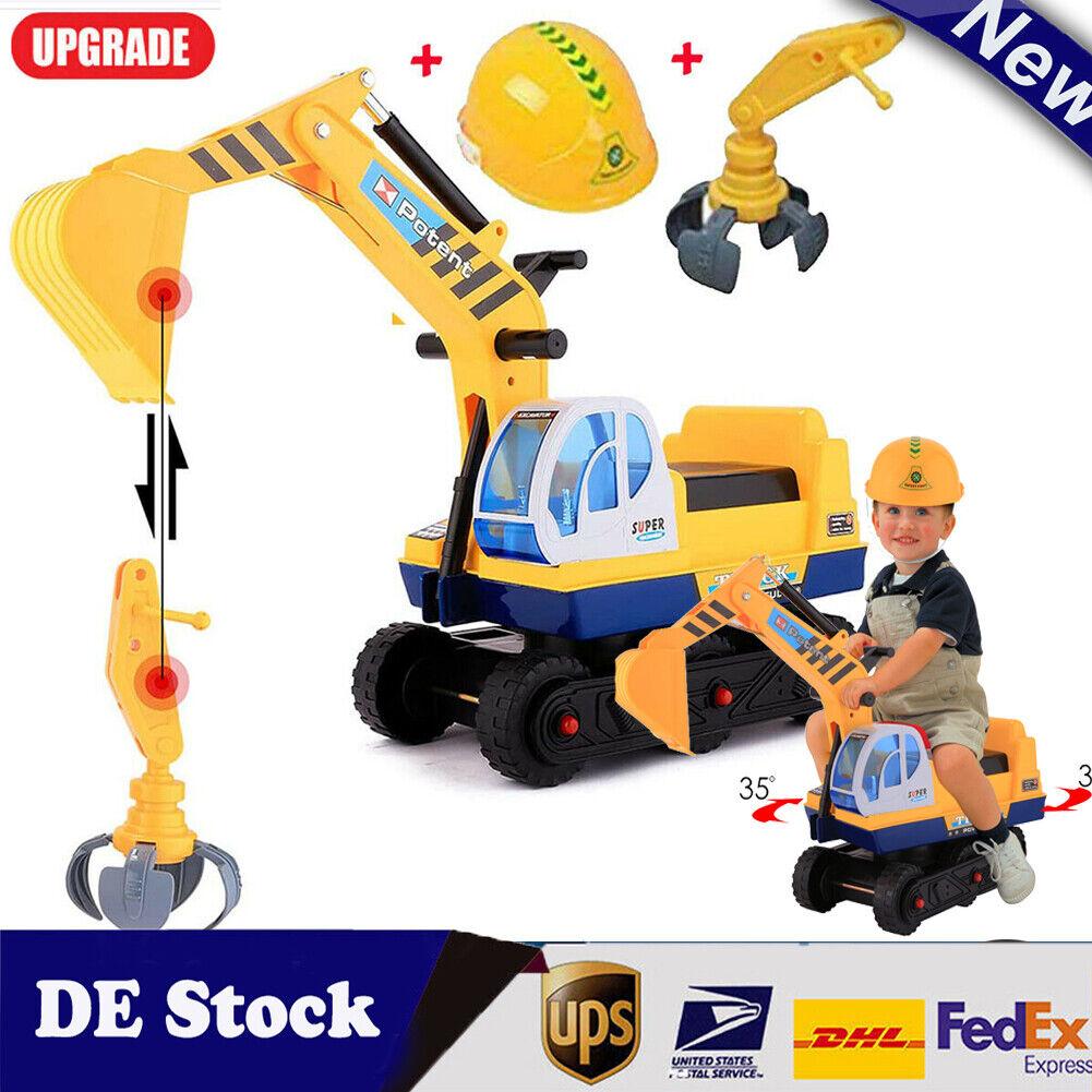 Kinder Spielzeug Traktoren Bagger Schwungradantrieb Radlader Baufahrzeug 2 In 1