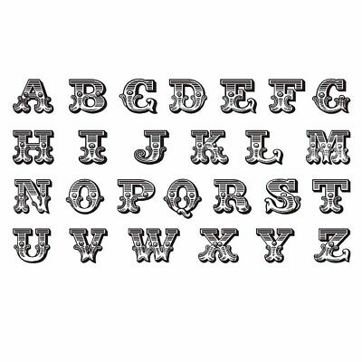 3 Sheets Black English Alphabet DIY Name Body Temporary Tattoos Fake Tattoos Des