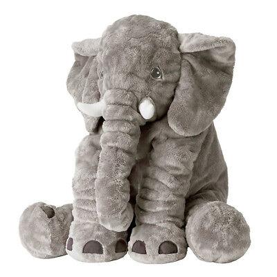 Soft Plush Stuffed Animal Toys Elephant Baby Birthday Gift Doll Kids Pillow Gray