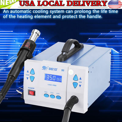 861dw Quick Soldering 861dw 1000w Digital Hot Air Gun Rework Station Machine