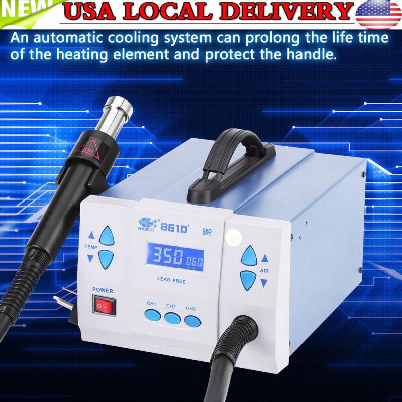 861D+Quick Soldering 1000W Digital Hot Air Gun Rework Station Machine