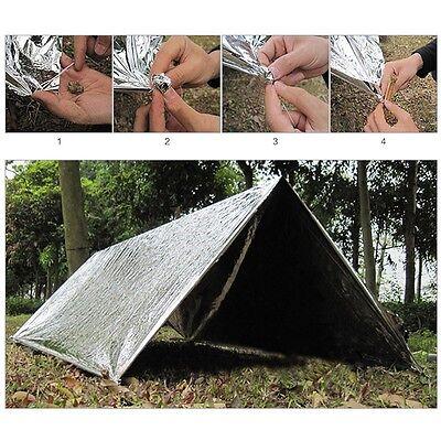 Outdoor Emergency Tent Blanket Sleeping Bag Survival Reflective Shelter Camping