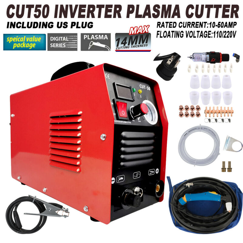 Plasma Cutter CUT50 Digital Inverter 110/220V Dual Voltage Plasma Cutter US