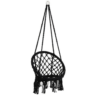 Hanging Hammock Chair Cotton Woven Rope Swing Chair Seat Bar Indoor Outdoor
