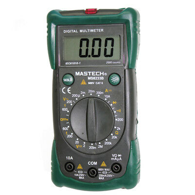 Mastech Ms8233b Multimeter Tester Backlight Diode Ac Dc