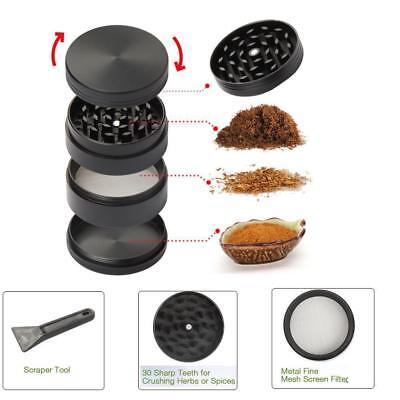 "2"" Tobacco Herb Grinder Spice Herbal Zinc Alloy Smoke Crusher 4 Pieces Metal USA"