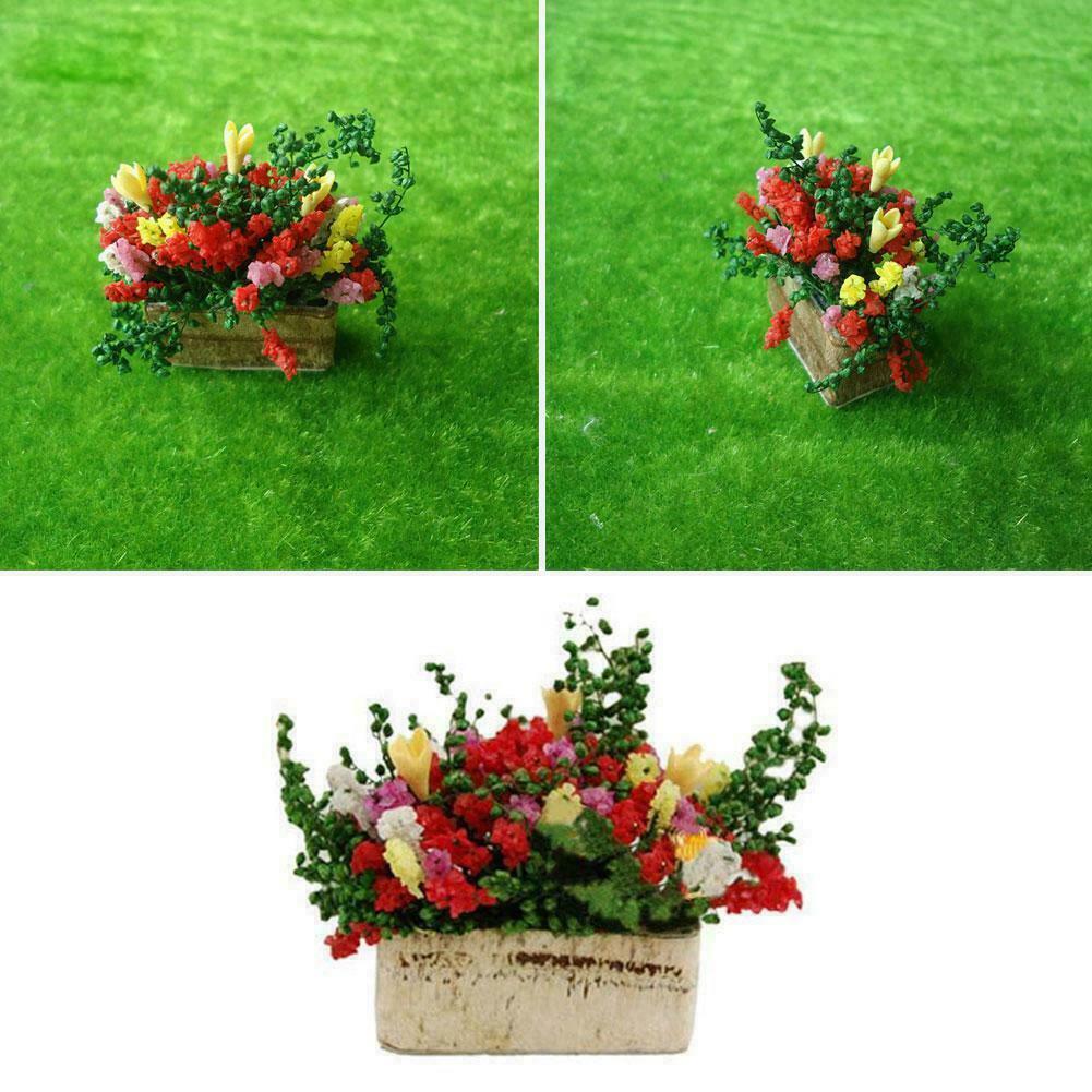 1/12 Dollhouse Miniatures Green Plant in Pot Tree Mini Plants Doll House Se N4F2