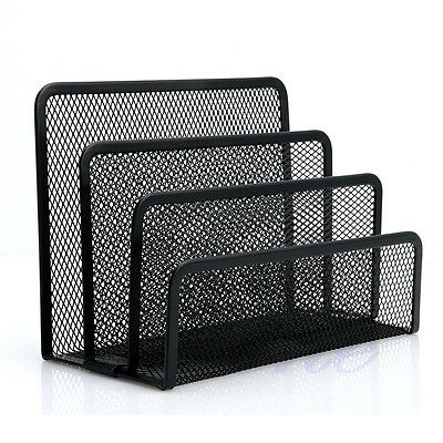 Mesh Letter Sorter Mail Document Tray Desk Office File Organiser Holder Opp