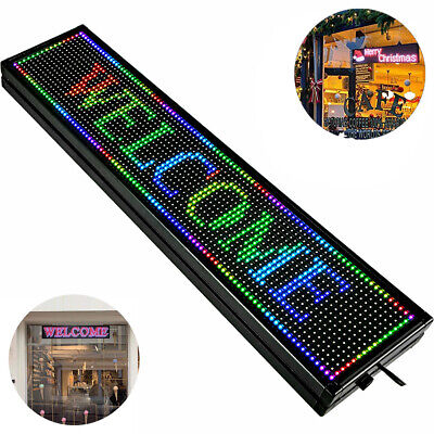 40 X 8 Full Color Indoor Led Sign Programmable Scrolling Message Board