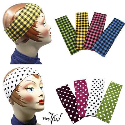 Polka Dot or Plaid Headband - 50s to 90s - Rockabilly to Grunge - Hey Viv Retro