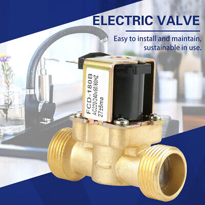 G34 2 Way Water Inlet Nc Normal Closed Electric Solenoid Valve Ac 220v240v Us