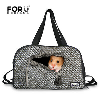 $39.99 - Cool Animal Large Gym Bag Women Men Sports Duffle Bag Designer Shoulder Bag Gray