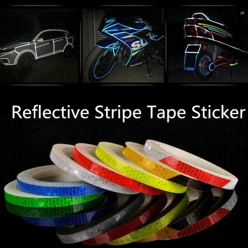 2pcs Bicycle Mountain Bike Reflector Cycling Wheel Rim Reflective Tape Stickers