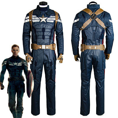 Captain America 2 The Winter Soldier Steve Rogers Uniform Outfit Cosplay Kostüm