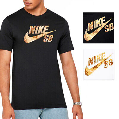 Nike Men's Active Wear Short Sleeve Camouflage Print SB Logo Skate T Shirt Clothing, Shoes & Accessories