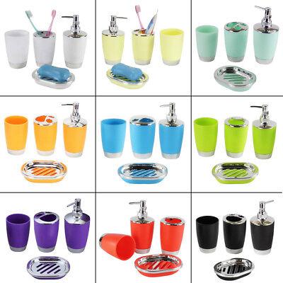4Pcs/set Plastic Bathroom Suit Bath Accessories Cup Toothbrush Holder Soap Dish Bathroom Accessories Toothbrush Holder