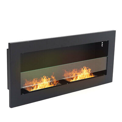 Bio Ethanol Fire BioFire Fireplace 2 Burner Heater Wall Mounted or Inset Install