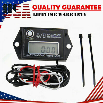 Digital Tach Hour Meter Gauge Tachometer Job Timer For Motorcycle Dirt Bike