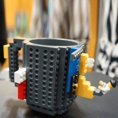 DIY Build-on Brick Puzzle Mug Coffee Tea Drink Cup Block Gift For Lego Fans New - Diy Mugs