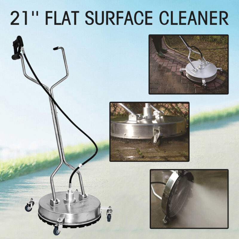 """HQ 21""""Flat Surface Cleaner High Pressure Washer Water Concrete Cleaning Trolley"""