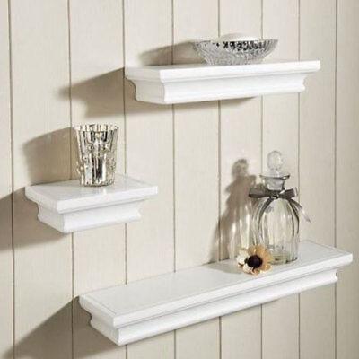 Decor Wall Shelves (Wall Mount Shelf Set Of 3 Floating Display Storage Home Decor Shelves Furniture )