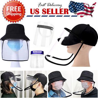 Face Shield Cap Anti-Spitting Protective Cover Saliva-proof Dust-proof Safe Hat