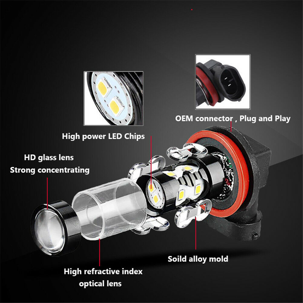 For Acura TSX RL 2009 2010 2011 Fog Light Bulb 8000lm CREE