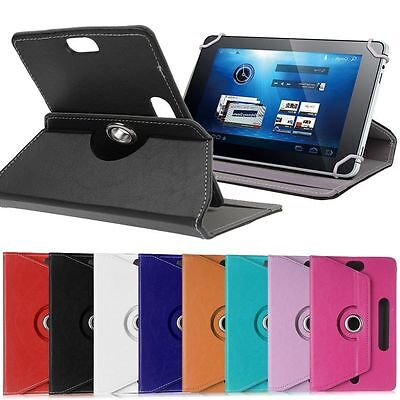 (360° Folio Leather Case Cover For Universal Android Tablet PC 7