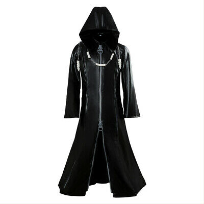 Organisation XIII Kingdom Hearts II Cosplay Pleather Mantel Kostüm Neue - Organisation Xiii Kostüm