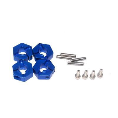 5mm Front & Rear Blue Billet Aluminum 12mm Hex Wheel Hub Traxxas Slash 4X4