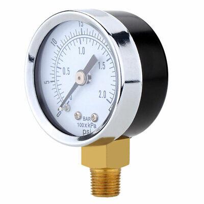 14 Npt Pressure Gauge Meter Air Compressor Pressure Manometer 0-30psi