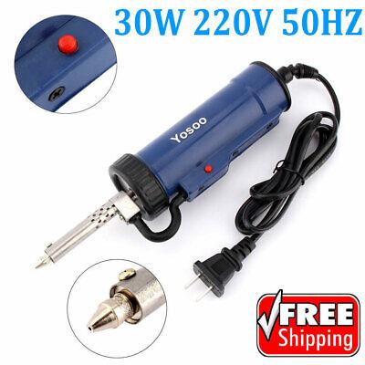 New 30w 220v 50hz Electric Vacuum Solder Sucker Desoldering Pump Iron Gun