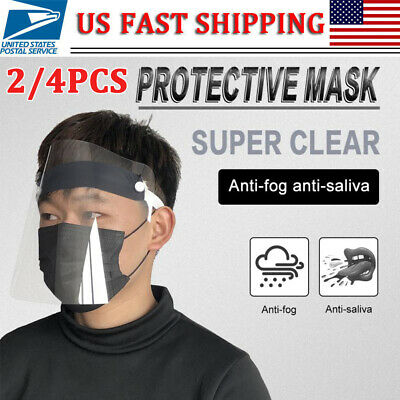 24pcs Safety Full Face Shield Reusable Washable Protection Cover Face Mask